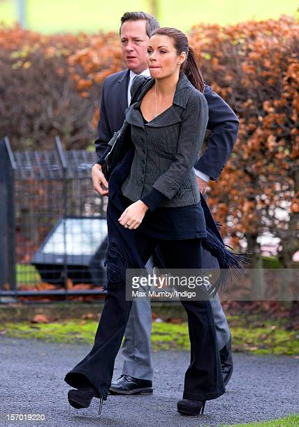Alison King attends the funeral of Coronation Street actor Bill Tarmey at the Albion United Reformed Church on November 27 2012 in Ashton under Lyne...