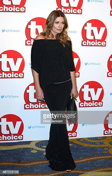 Alison King attends the TV Choice Awards 2015 at Hilton Park Lane on September 7 2015 in London England