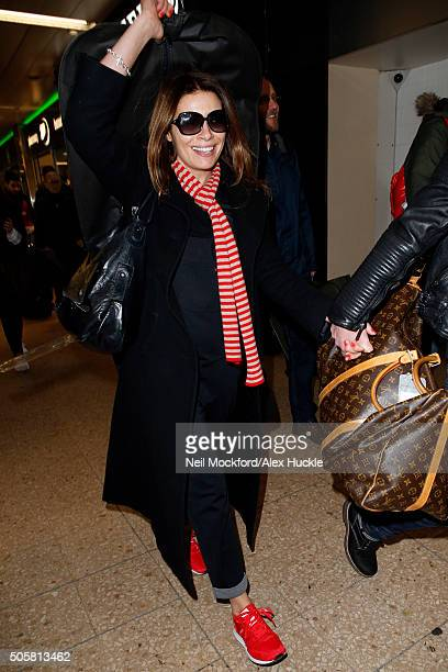 Alison King seen arriving at Euston Station ahead of the National Television Awards on January 20 2016 in London England
