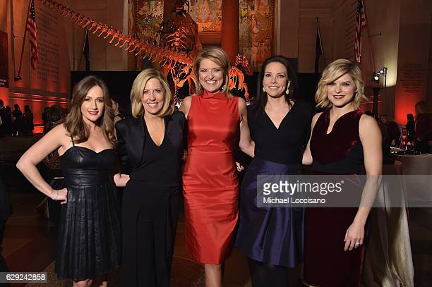 Alison Kosik Alisyn Camerota Christine Romans Erica Hill and Kate Bolduan pose during the CNN Heroes Gala 2016 at the American Museum of Natural...