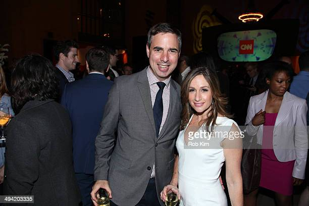 Alison Kosik and guest attend the Sixties series premiere party at Grand Central Terminal on May 28 2014 in New York City