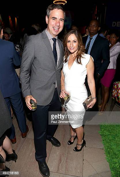 Alison Kosik R and guest attend the party for the Sixties series premiere at Grand Central Terminal on May 28 2014 in New York City
