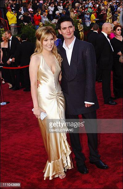 Alison Kraus and husband Mark Richard in Los Angeles United States on February 29 2004