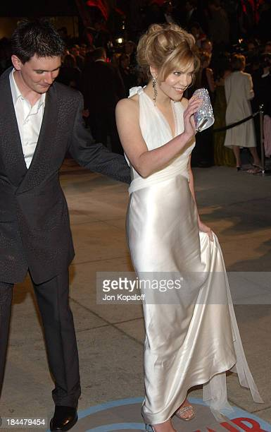 Alison Krauss and husband during 2004 Vanity Fair Oscar Party at Mortons in Beverly Hills California United States