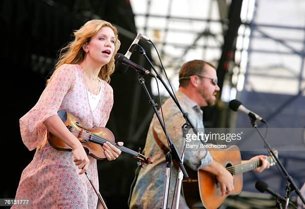 Alison Krauss and Union Station performs at Eric Clapton's Crossroads Guitar Festival 2007 held at Toyota Park on July 28 2007 in Bridgeview Illinois