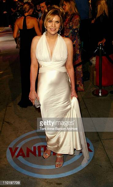 Alison Krauss during 2004 Vanity Fair Oscar Party Arrivals at Mortons in Beverly Hills California United States