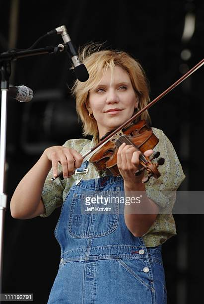 Alison Krauss during Bonnaroo 2005 Day 1 Alison Krauss and Union Station at What Stage in Manchester Tennessee United States