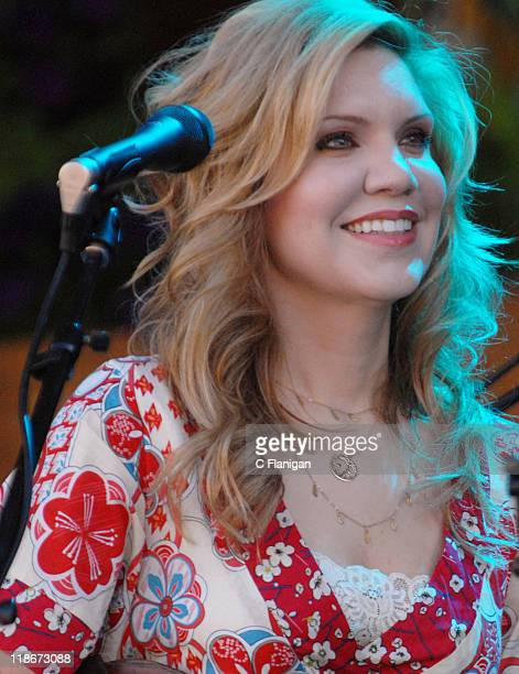 Alison Krauss during The 34th Annual Telluride Bluegrass Festival Day 2 Alison Krauss and Union Station featuring Jerry Douglas and Tony Rice at Town...