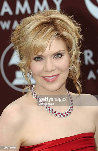 Alison Krauss during The 47th Annual GRAMMY Awards Arrivals at Staples Center in Los Angeles California United States