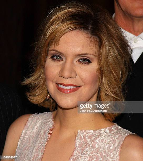 Alison Krauss during The Words and Music of Cold Mountain at Royce Hall in Westwood California United States