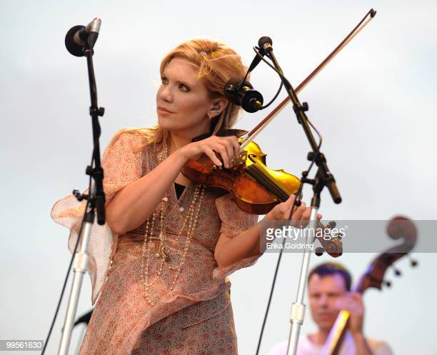 Alison Krauss of Alison Krauss Union Station featuring Jerry Douglas perform at day 1 of The Hangout Beach Music and Arts Festival on May 14 2010 in...