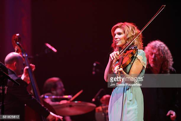 Alison Krauss performing on stage at Wembley Arena in London on the 22nd May 2008