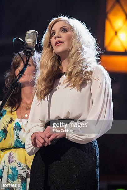 Alison Krauss performs at Ryman Auditorium on September 21 2016 in Nashville Tennessee