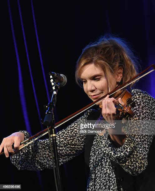 Alison Krauss performs during Songwriters 4 Songwriters Ladies' Night A fundraiser to benefit The Pen Fund at 3rd and Lindsley on November 10 2015 in...