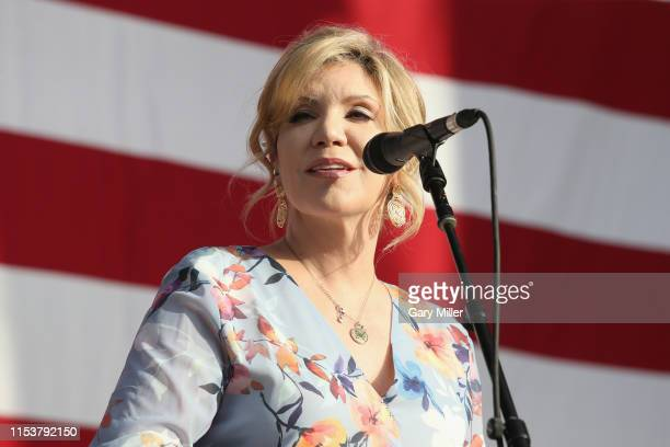 Alison Krauss performs in concert during Willie Nelson's 4th of July Picnic at Austin360 Amphitheater on July 4, 2019 in Austin, Texas.