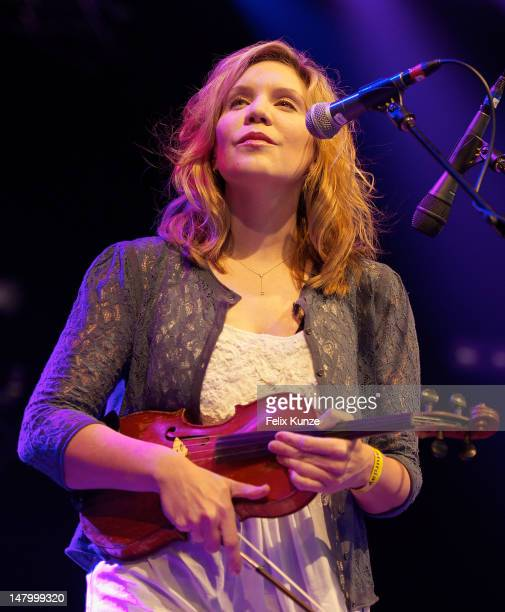 Alison Krauss performs on stage during Roskilde Festival on July 7 2012 in Roskilde Denmark