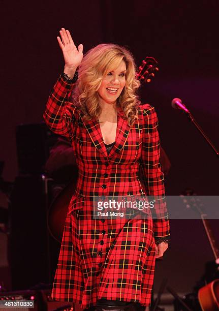 Alison Krauss performs on stage during The Life Songs of Emmylou Harris An All Star Concert Celebration at DAR Constitution Hall on January 10 2015...