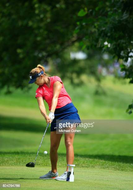 Alison Lee hits a drive during the third round of the Marathon Classic Presented By Owens Corning And OI held at Highland Meadows Golf Club on July...
