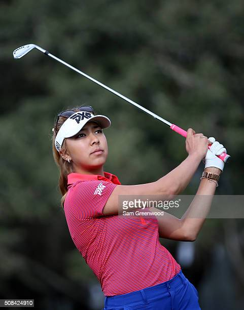 Alison Lee of the United States plays a shot on the 15th hole during the second round of the Coates Golf Championship Presented By RL Carriers at...
