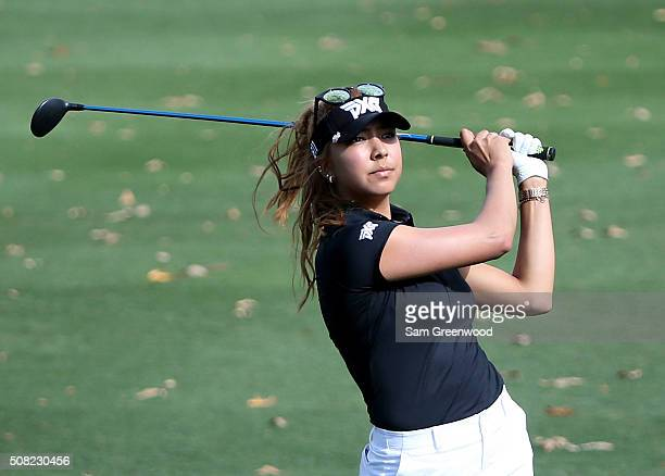 Alison Lee of the United States plays a shot on the sixth hole during the first round of the Coates Golf Championship Presented By RL Carriers at...