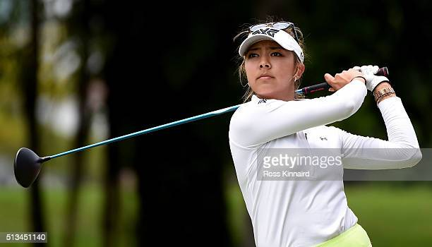 Alison Lee of the USA on the par four 9th hole during the first round of the HSBC Women's Champions at the Sentosa Golf Club on March 3 2016 in...