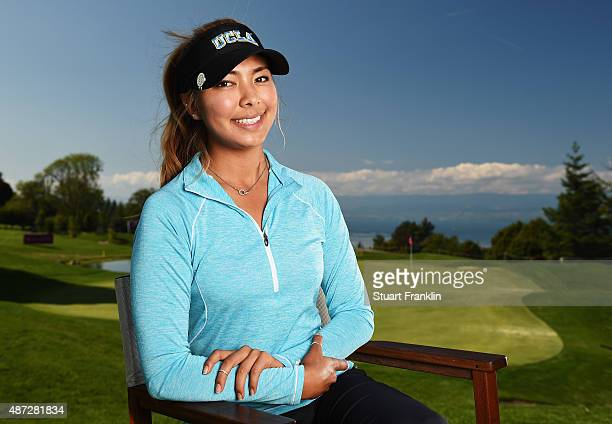 Alison Lee of USA poses for a picture during practice prior to the start of the Evian Championship Golf on September 8 2015 in EvianlesBains France