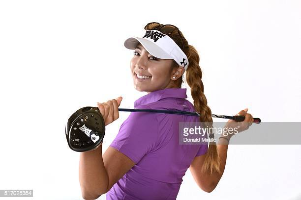 Alison Lee poses for a portrait during the KIA Classic at the Park Hyatt Aviara Resort on March 22 2016 in Carlsbad California