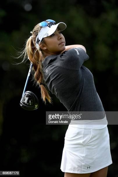 Alison Lee tees off the 2nd hole during the Final Round of the KIA Classic at the Park Hyatt Aviara Resort on March 26 2017 in Carlsbad California