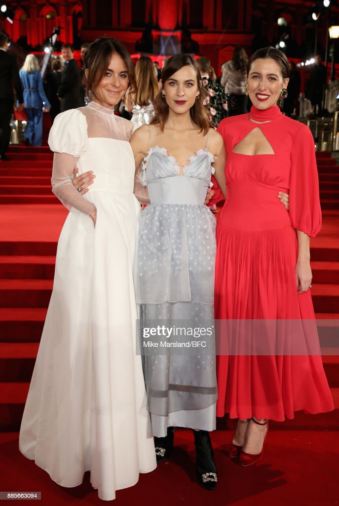Alison Loehnis, Alex Chung and Emilia Wickstead attend The Fashion Awards 2017 in partnership with Swarovski at Royal Albert Hall on December 4, 2017 in London, England.