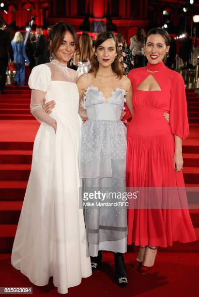 Alison Loehnis Alex Chung and Emilia Wickstead attend The Fashion Awards 2017 in partnership with Swarovski at Royal Albert Hall on December 4 2017...