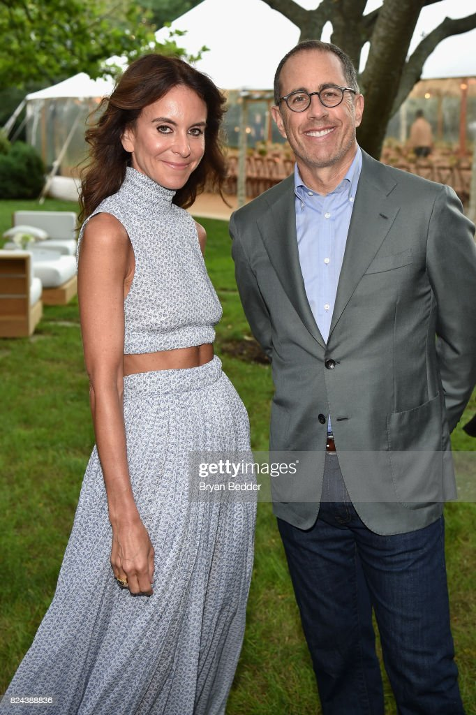 Alison Loehnis and Jerry Seinfeld attend The GOOD+ Foundation's Hamptons Summer Dinner co-hosted by NET-A-PORTER on July 29, 2017 in East Hampton, New York.