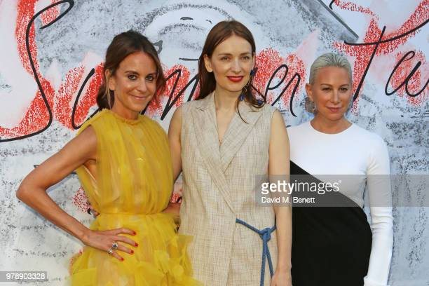 Alison Loehnis Roksanda Ilincic and Jennifer Fisher attend the Serpentine Summper Party 2018 at The Serpentine Gallery on June 19 2018 in London...