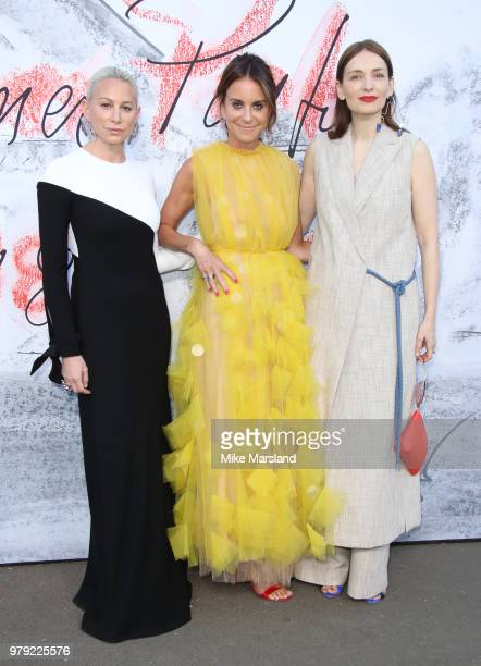 Alison Loehnis Roksanda Ilincic and Jennifer Fisher attend The Serpentine Summer Party at The Serpentine Gallery on June 19 2018 in London England