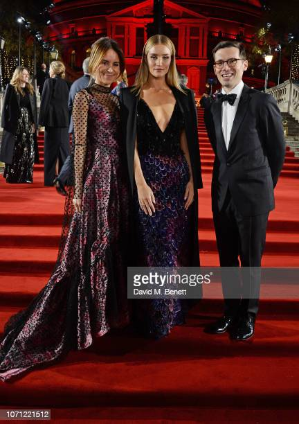 Alison Loehnis Rosie HuntingtonWhiteley and Erdem Moralioglu arrive at The Fashion Awards 2018 in partnership with Swarovski at the Royal Albert Hall...
