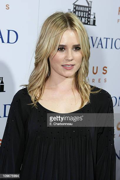 Alison Lohman at the Focus Features premiere of 'Reservation Road' at the Academy of Motion Picture Arts and Sciences on October 18 2007 in Beverly...