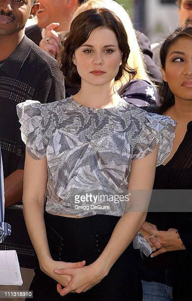 Alison Lohman during Tim McGraw Receives a Recording Star On The Hollywood Walk of Fame at Hollywood Blvd in Hollywood California United States