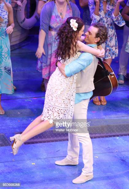 Alison Luff and Paul Alexander Nolan during the the Broadway Opening Night Performance Curtain Call bows of 'Escape To Margaritaville' at The Marquis...