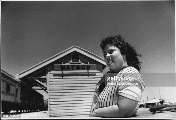 Alison Mathews at Watson Railway Camp January 19 1989