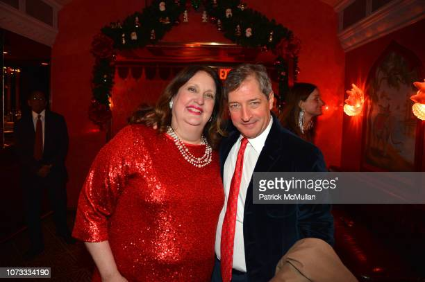 Alison Mazzola and Jay Snyder attend George Farias Anne Jay McInerney Host A Holiday Party at The Doubles Club on December 13 2018 in New York City