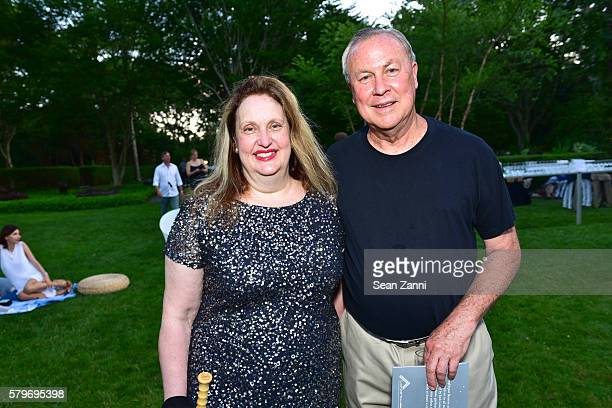 Alison Mazzola and Robert Wilson attend LongHouse Reserve 2016 Jubilee Year Summer Benefit Serious Moonlight at LongHouse Reserve on July 23 2016 in...