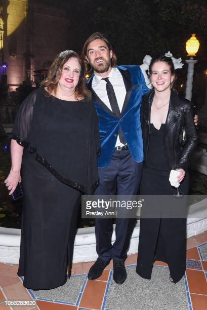 Alison Mazzola Ben Berube and Taylor Tobin attend Hearst Castle Preservation Foundation Hollywood Royalty Dinner at Hearst Castle on September 28...