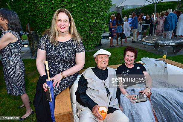 Alison Mazzola Jack Lenor Larsen and Guest attend LongHouse Reserve 2016 Jubilee Year Summer Benefit Serious Moonlight at LongHouse Reserve on July...