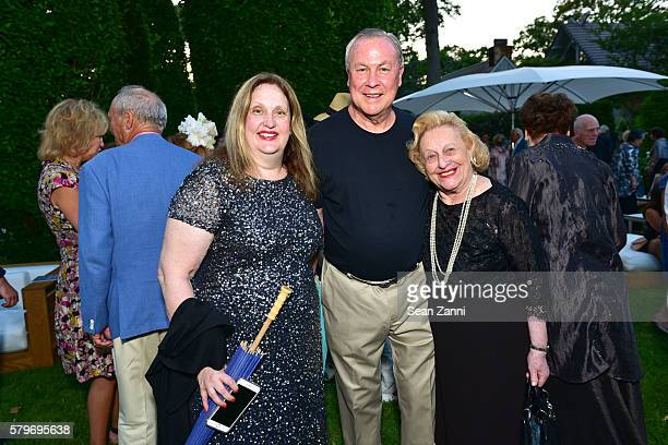 Alison Mazzola Robert Wilson and Sylvia Mazzola attend LongHouse Reserve 2016 Jubilee Year Summer Benefit Serious Moonlight at LongHouse Reserve on...