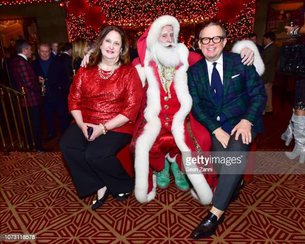 Alison Mazzola Santa Claus and Alex Papachristidis attend George Farias Anne Jay McInerney Host A Holiday Party at The Doubles Club on December 13...