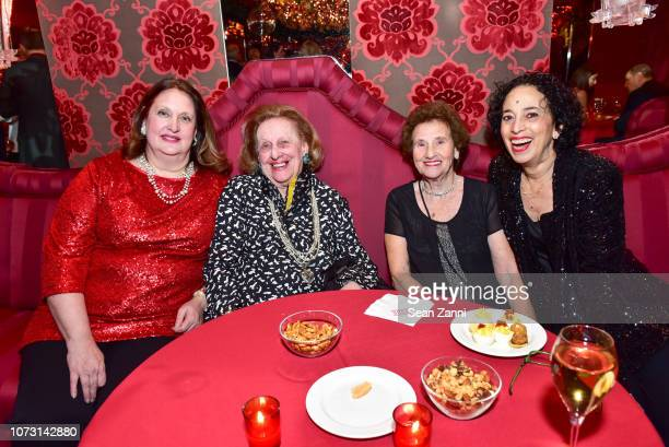 Alison Mazzola Sylvia Mazzola Violet Dhimos and Cristine Dhimos attend George Farias Anne Jay McInerney Host A Holiday Party at The Doubles Club on...