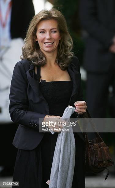 Alison McGinley smiles as USA and European team wives prepare to travel to The Curragh racecourse for the Wives Race Day prior to the start of the...