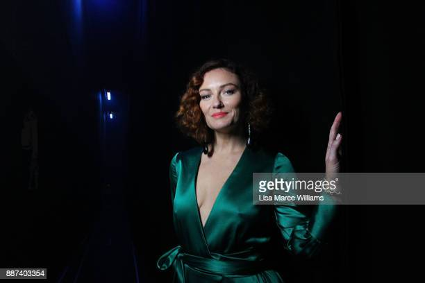 Alison McGirr poses backstage during the 7th AACTA Awards Presented by Foxtel at The Star on December 6 2017 in Sydney Australia
