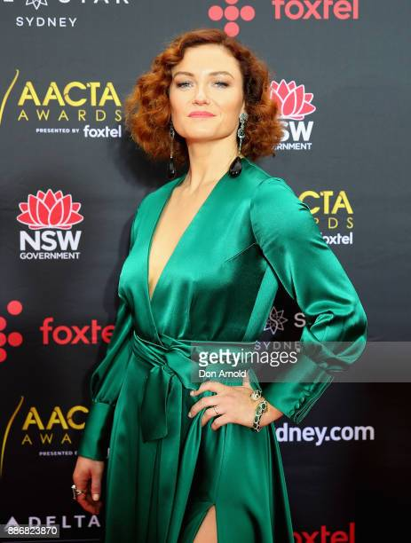 Alison McGirr poses during the 7th AACTA Awards at The Star on December 6 2017 in Sydney Australia