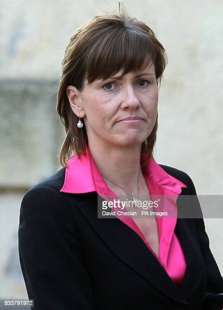 Alison McRae arrives for the Service of Celebration for her husband Colin McRae and her son Johnny McRae taking place at St Nicholas Church, High...
