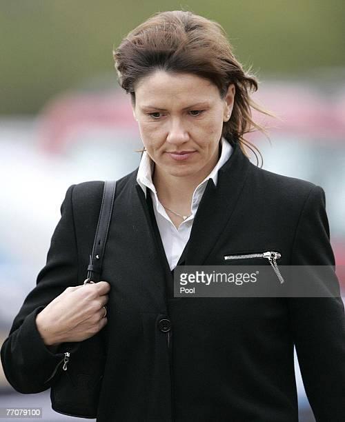 Alison McRae attends the funeral of former quad bike champion, Graeme Duncan on September 28, 2007 in Edinburgh, Scotland. Graeme Duncan died in the...